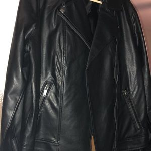 Old navy leather jacket xl